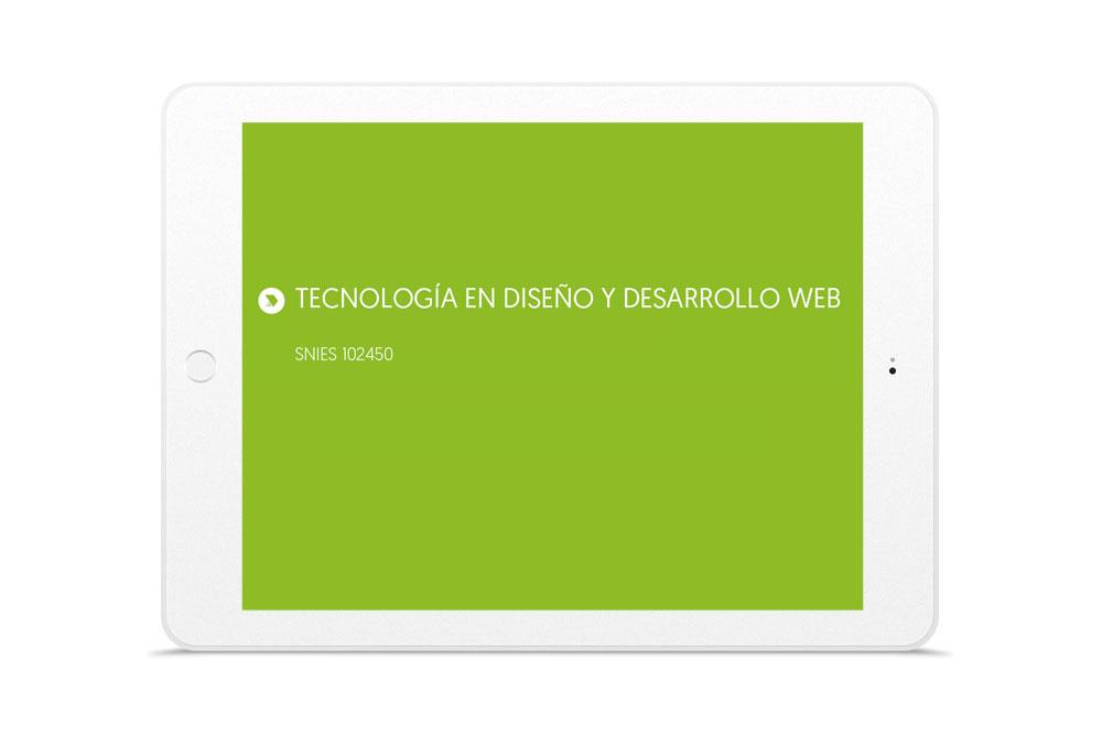 TECNOLOGÍA EN DISEÑO Y DESARROLLO WEB