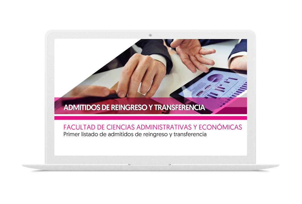 FACULTAD DE CIENCIAS ADMINISTRATIVAS Y ECONÓMICAS