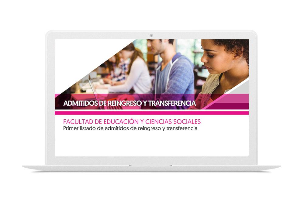 FACULTAD DE EDUCACIÓN Y CIENCIAS SOCIALES