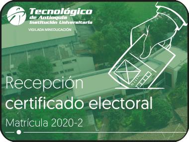 Información sobre el descuento electoral para el semestre 2020 - 02