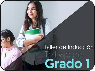 Participa en el taller de inducción: Trabajo de grado 1