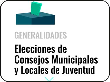 Participa en las elecciones de  Consejos Municipales de Juventud