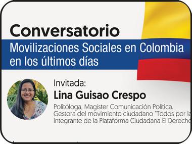 Movilizaciones sociales en Colombia en los últimos días
