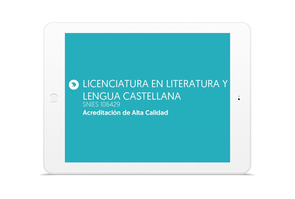 LICENCIATURA EN LITERATURA Y LENGUA CASTELLANA