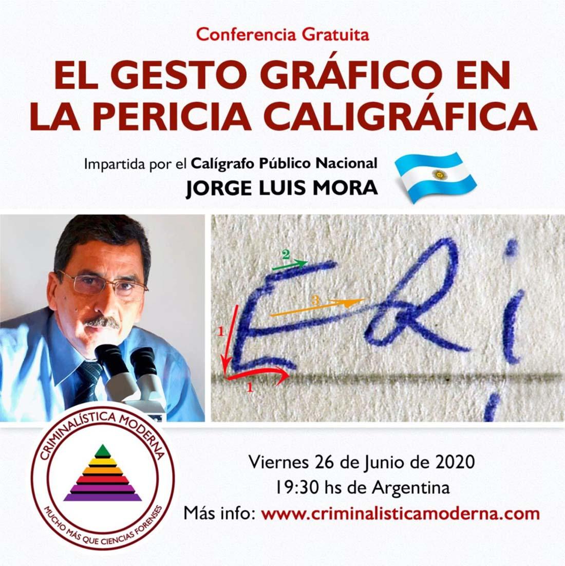 Conferencia Internacional Gratuita: El gesto gráfico en la pericia caligráfica