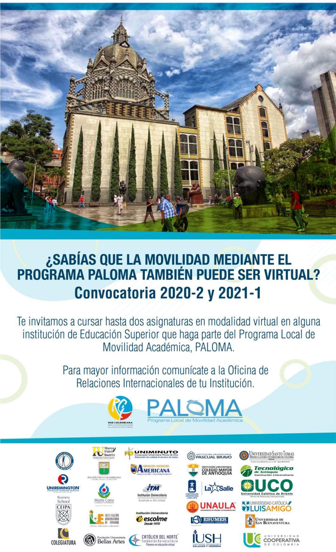 Convocatoria PALOMA virtual 2020-2