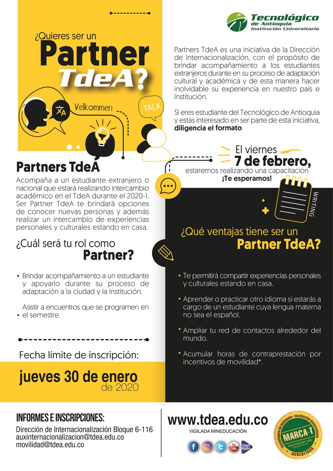 ¿Quieres ser un Partner TdeA?