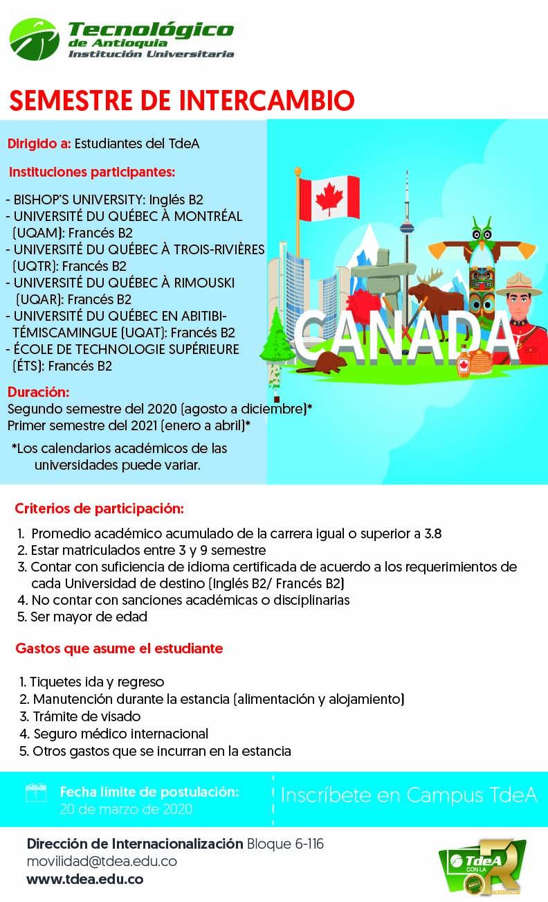 Semestre de intercambio Canadá