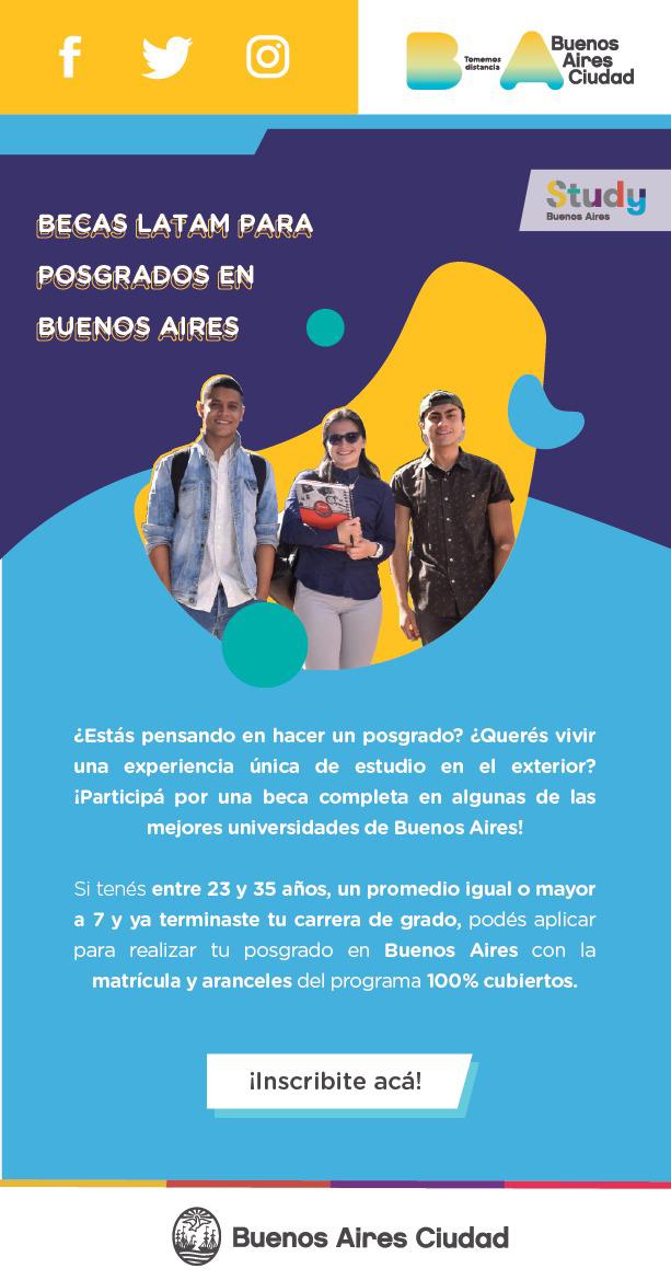 Becas de Posgrados para Argentina