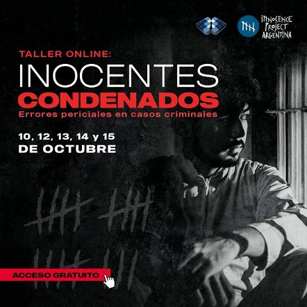 Taller online: Inocentes condenados. Errores periciales en Casos Criminales