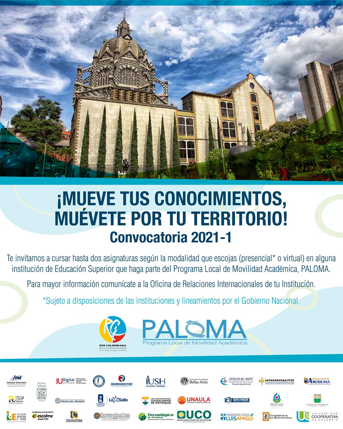 Convocatoria PALOMA virtual 2021-1