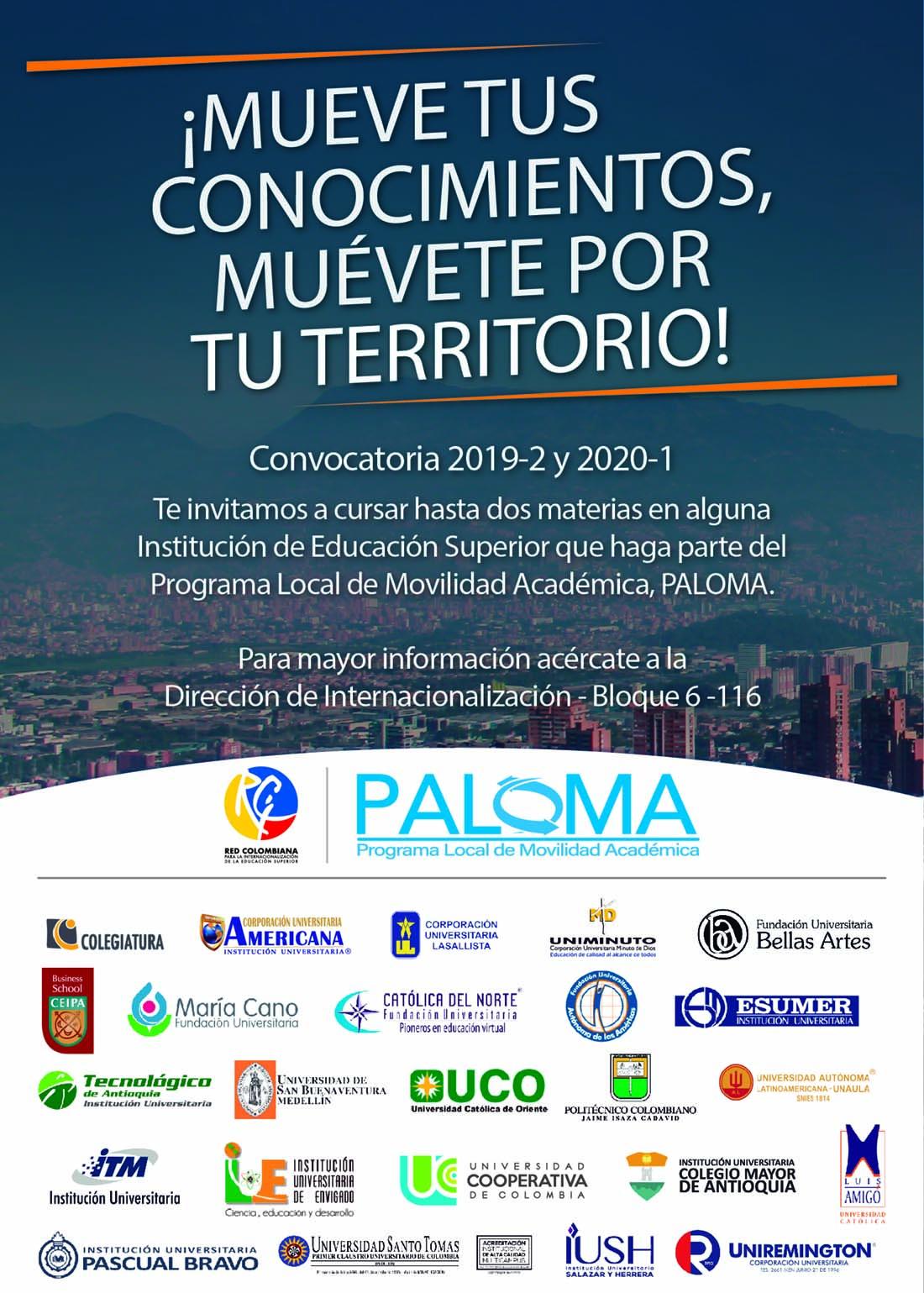Convocatoria PALOMA 2019-2 y 2020-1