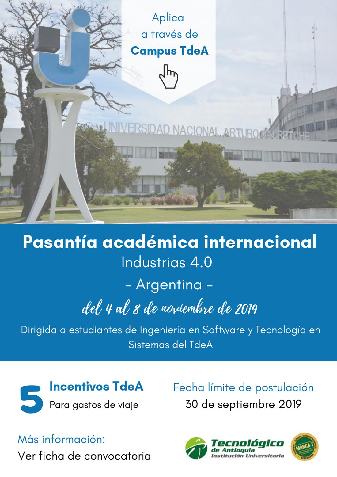 Pasantía académica internacional Industrias 4.0