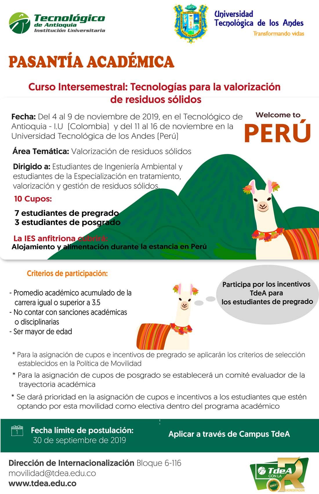 Pasantía académica Universidad Tecnológica de los Andes