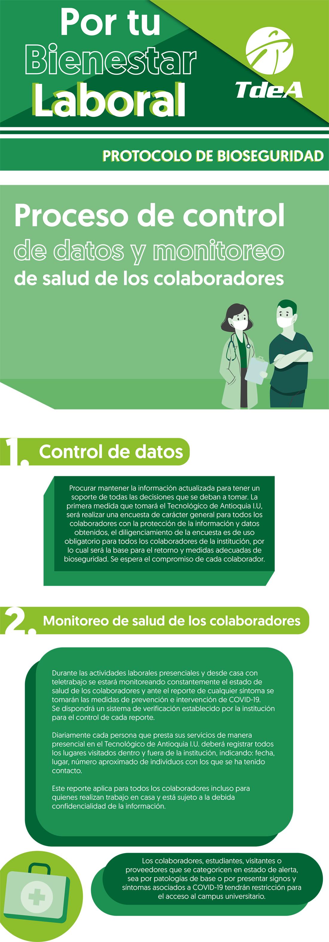 Proceso de control de datos y monitoreo de salud de los colaboradores
